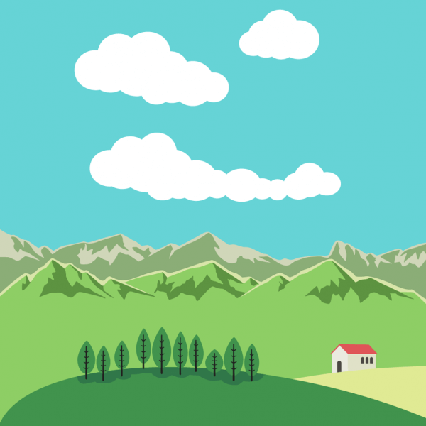 Vector illustration Mountain landscape vector