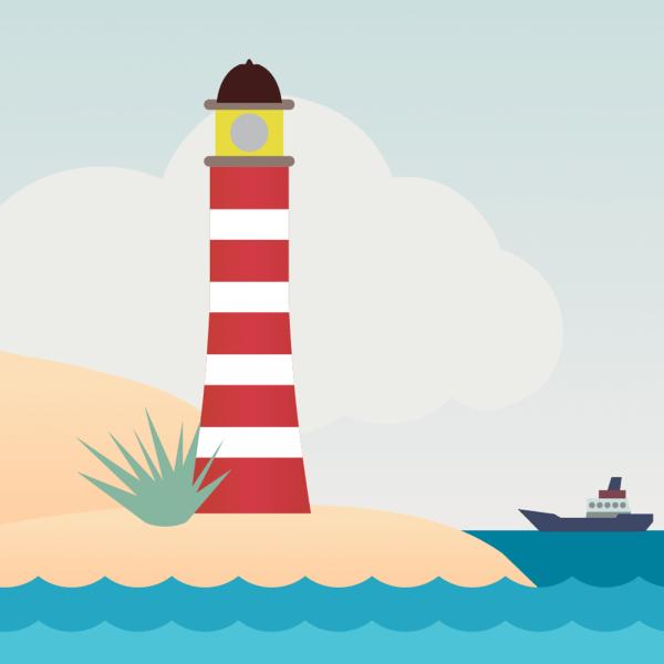 Vector illustration Lighthouse vector