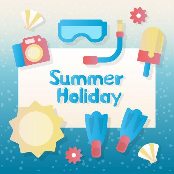 Summer vector elements and accessories vector
