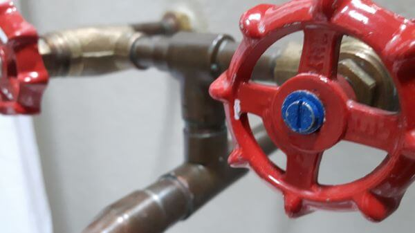 Red water tap photo