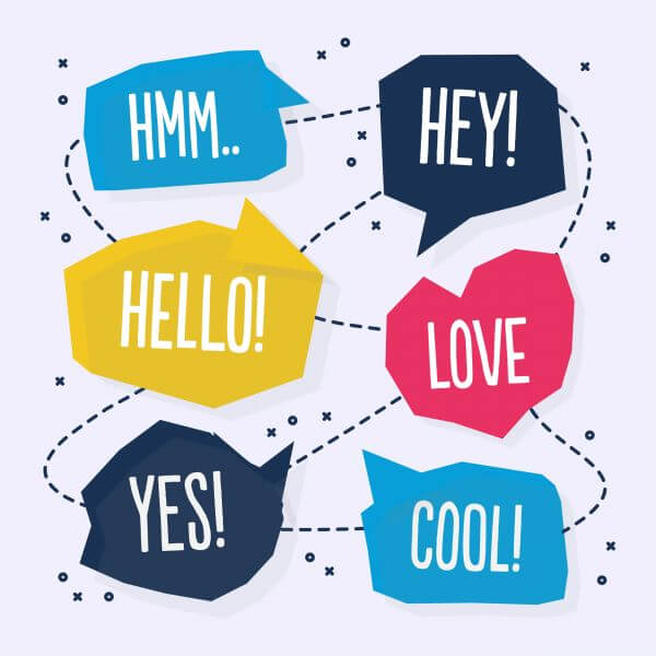 Vector abstract chat bubble design vector