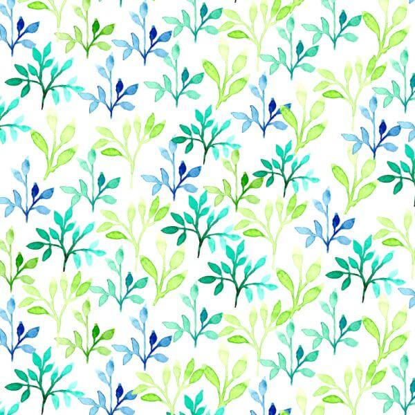 Watercolor vector pattern with leaves vector