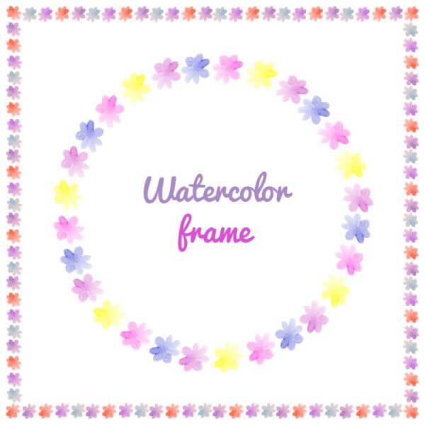 Watercolor vector frames  vector