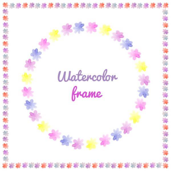 Watercolor vector frames  vector