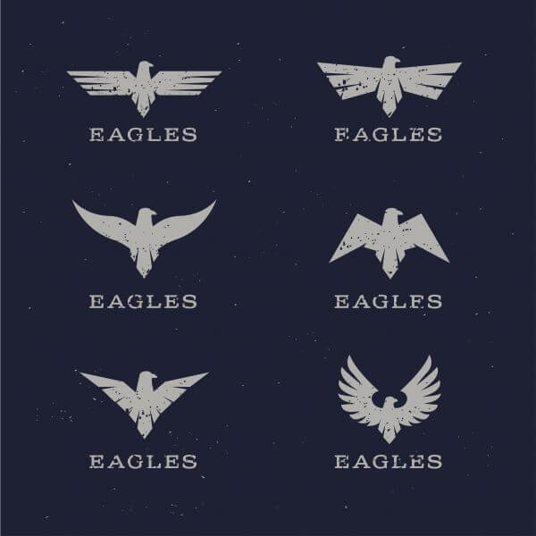Stylish Eagle Icons vector