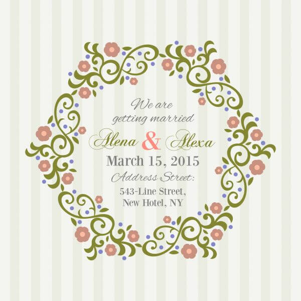 Invitation Card with background vector