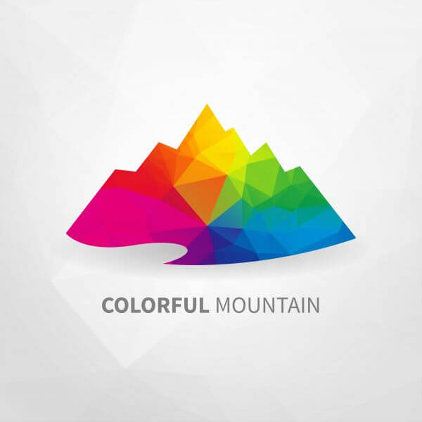 Colorful Mountain vector