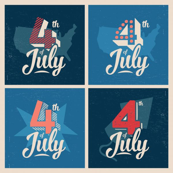 4th of July Background vector
