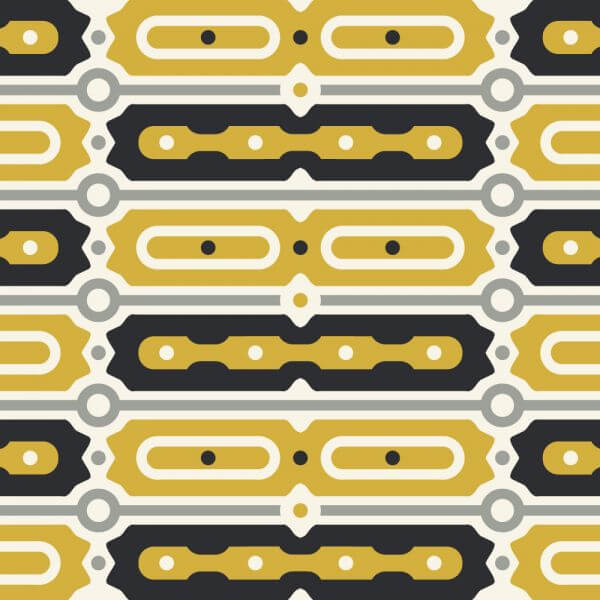Gold and Black Bar Pattern vector