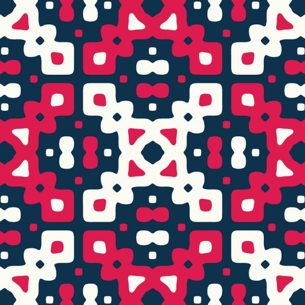 Red, White, and Blue Quilt Pattern vector