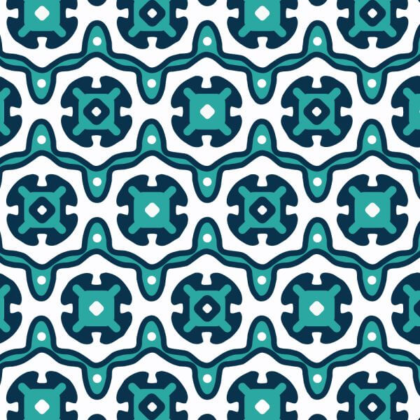 Ornate Blue and White Pattern vector