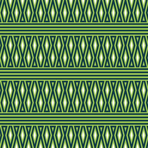Geometric Green and White Pattern vector