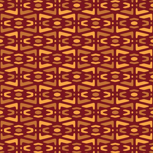 Yellow and Maroon Tribal Pattern vector