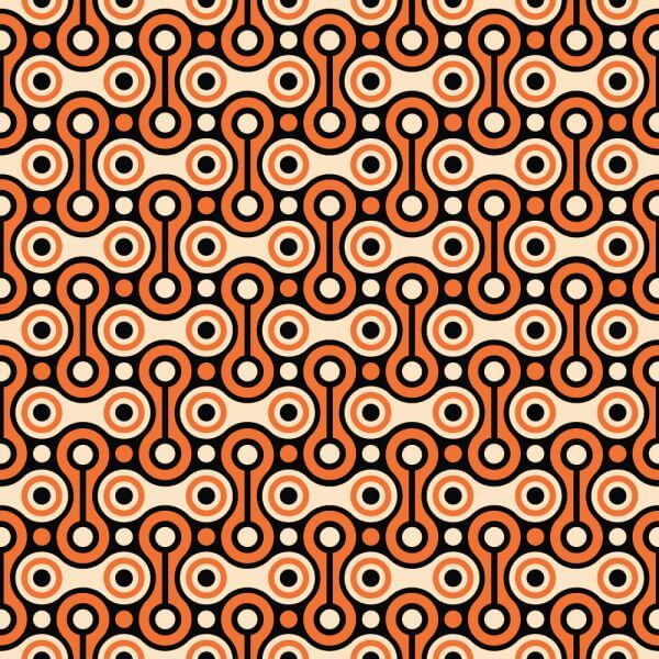 Bicycle Chain Retro Pattern vector