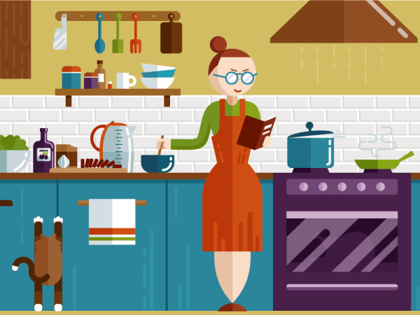 Kitchen illustration vector