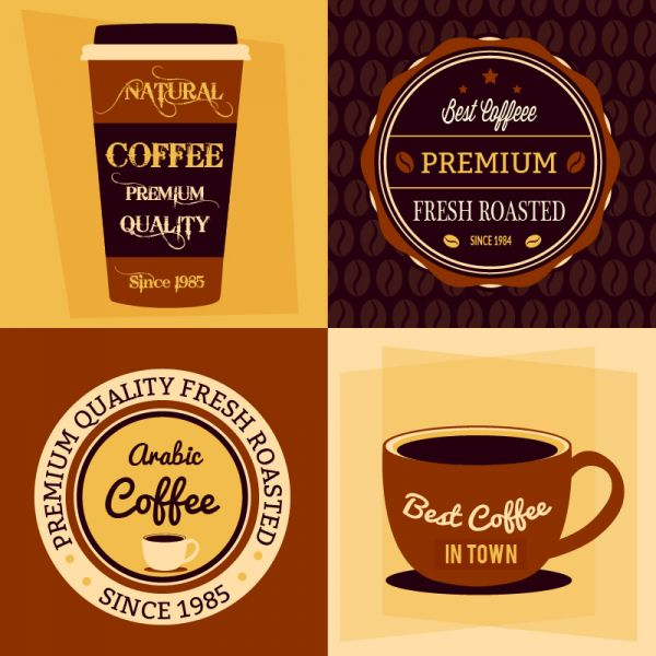 Coffee flat concept  vector