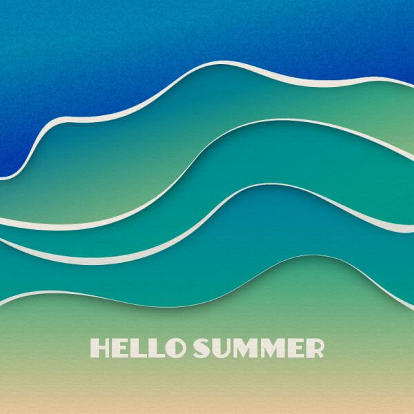 Summer waves  vector