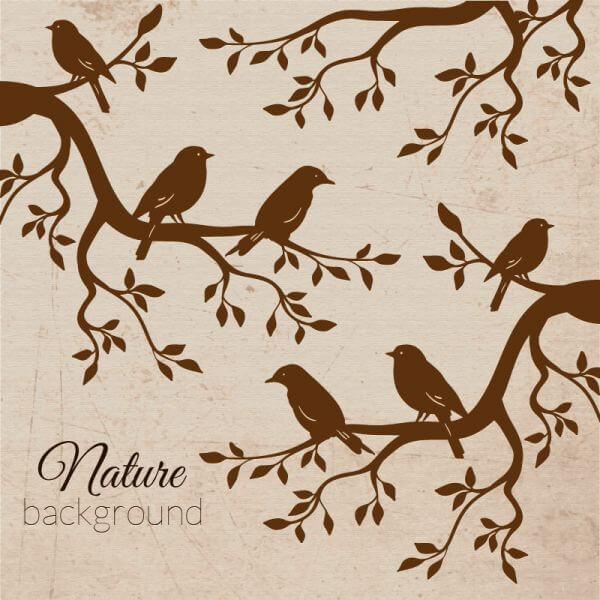 Vintage bird illustration vector