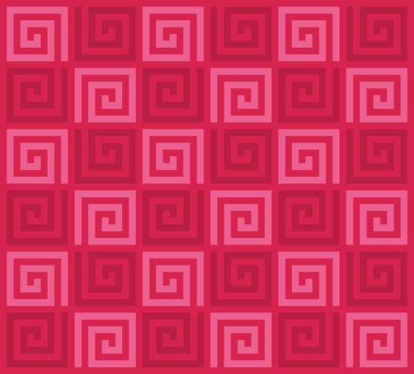 Red Spirals Pattern