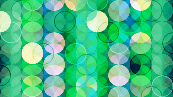 Green Abstract Circles vector
