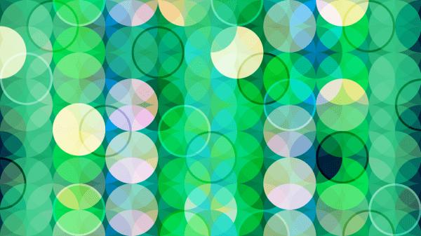 Green Abstract Circles