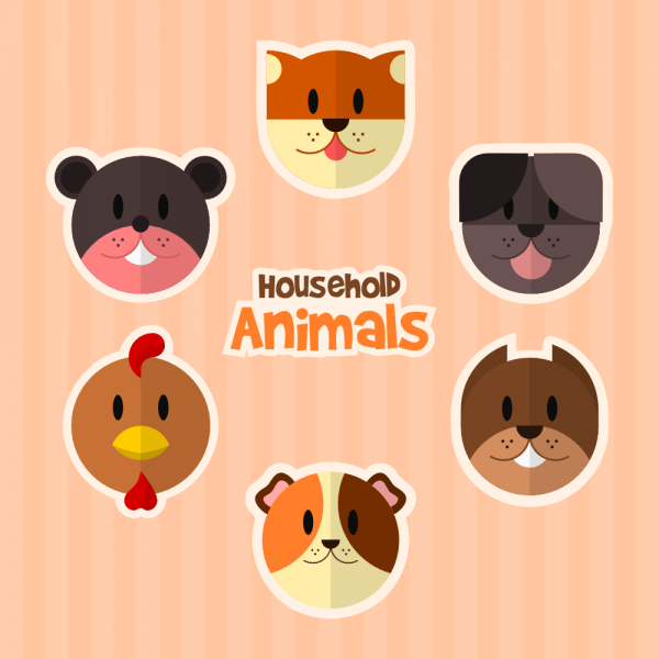 Household Animals vector
