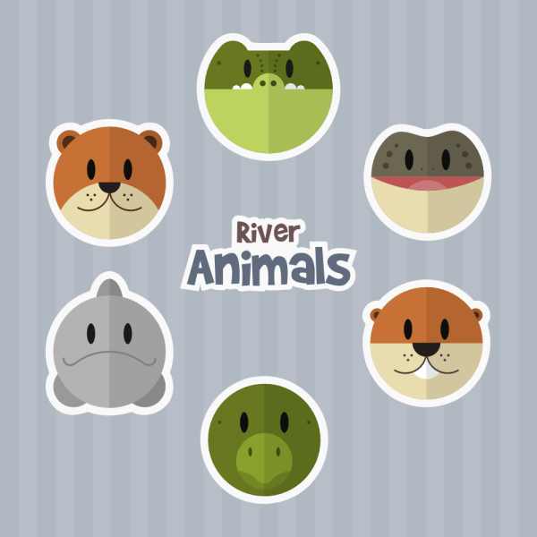 River Animals vector