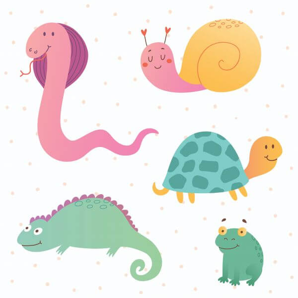Reptile vector set vector