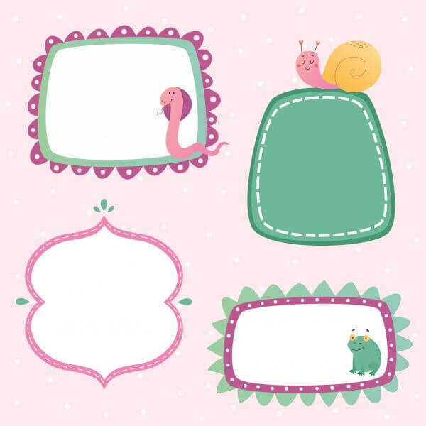 Cute frames set vector