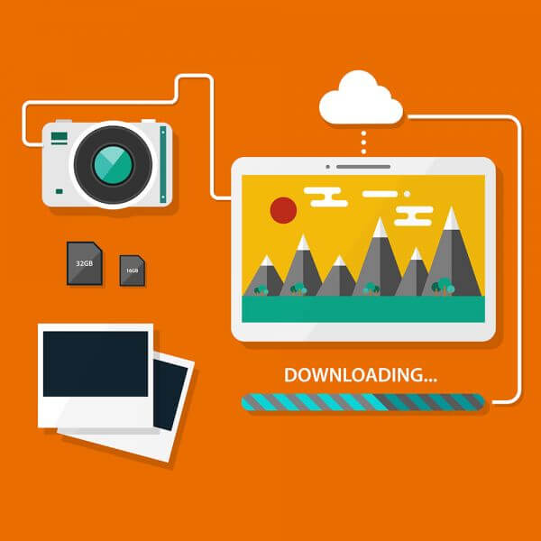 Camera and tablet vector