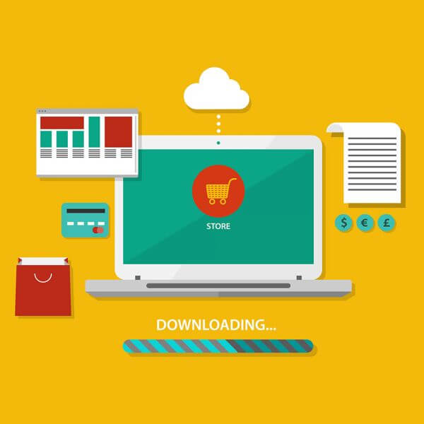 Notebook and payment tools vector
