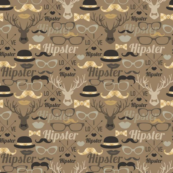 Hipster seamless pattern. vector