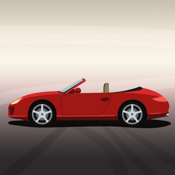Vector illustration Red sports car vector
