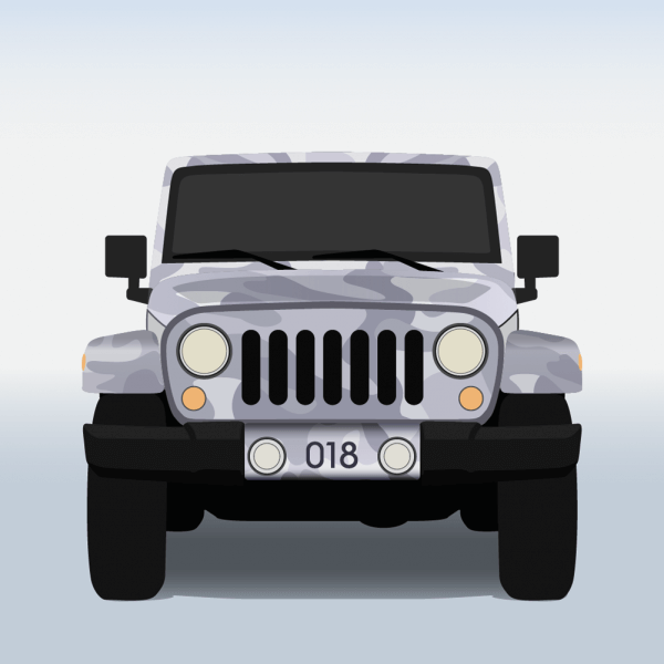 Vector illustration Military jeep vector