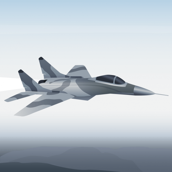 Vector illustration Military aircraft vector