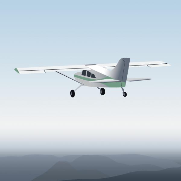 Vector illustration Aircraft vector