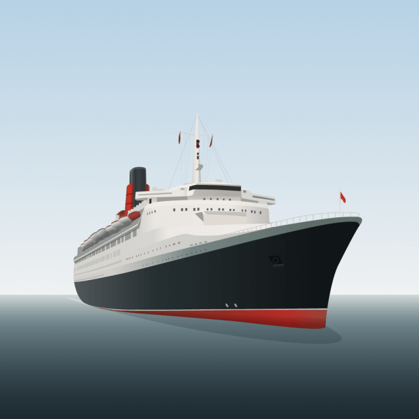 Vector illustration Ocean liner vector