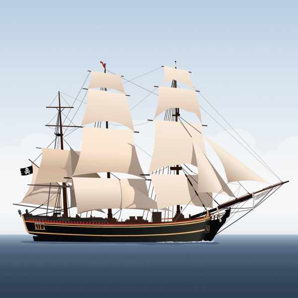 Vector illustration Sailboat vector