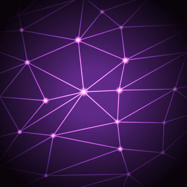 Purple geometric background vector