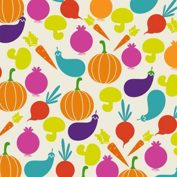 Food illustration with vegetables vector