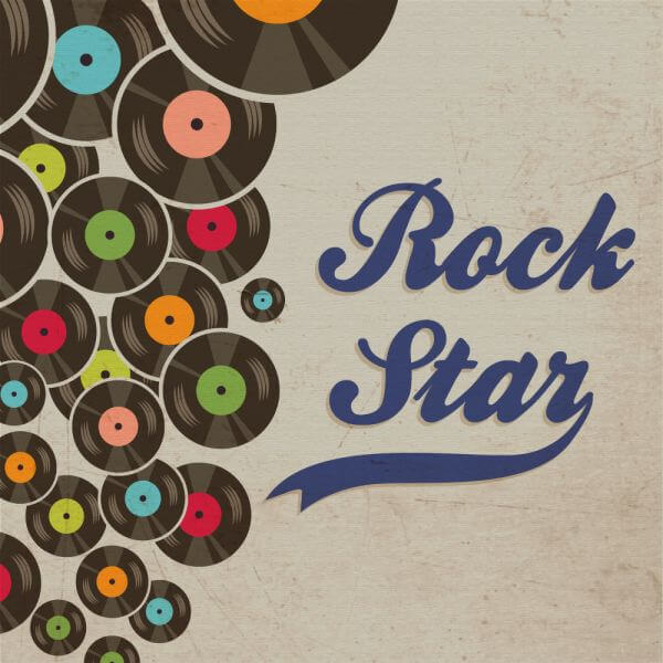 Music illustration with typography vector