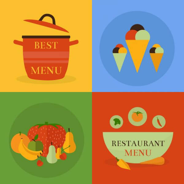 Food icon concept vector