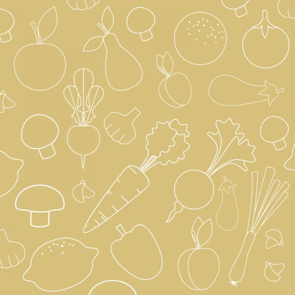 Seamless pattern with food vegetables elements vector