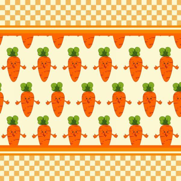 Carrot vector illustration, pattern vector