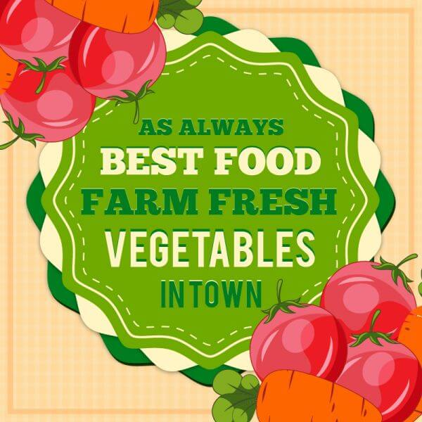 Vintage fresh food illustration vector