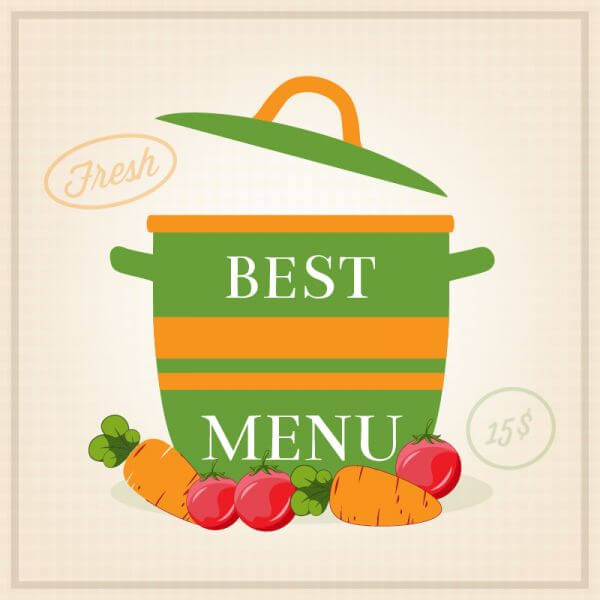 Vegetarian restaurant illustration vector