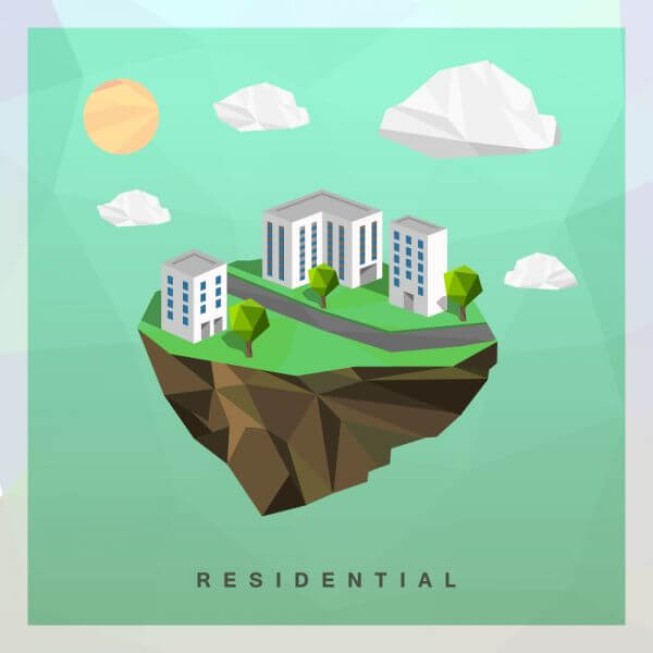 Eco residential vector