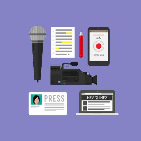 Icons for news and journalism vector