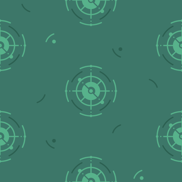 Green Nautical Pattern vector