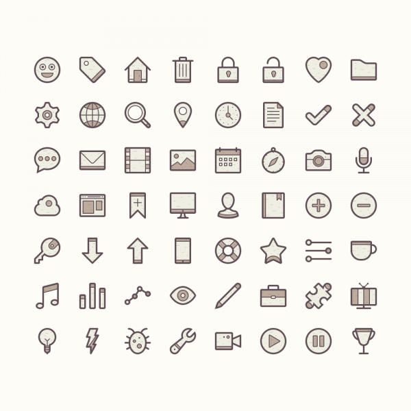 Barker - Icon Set vector